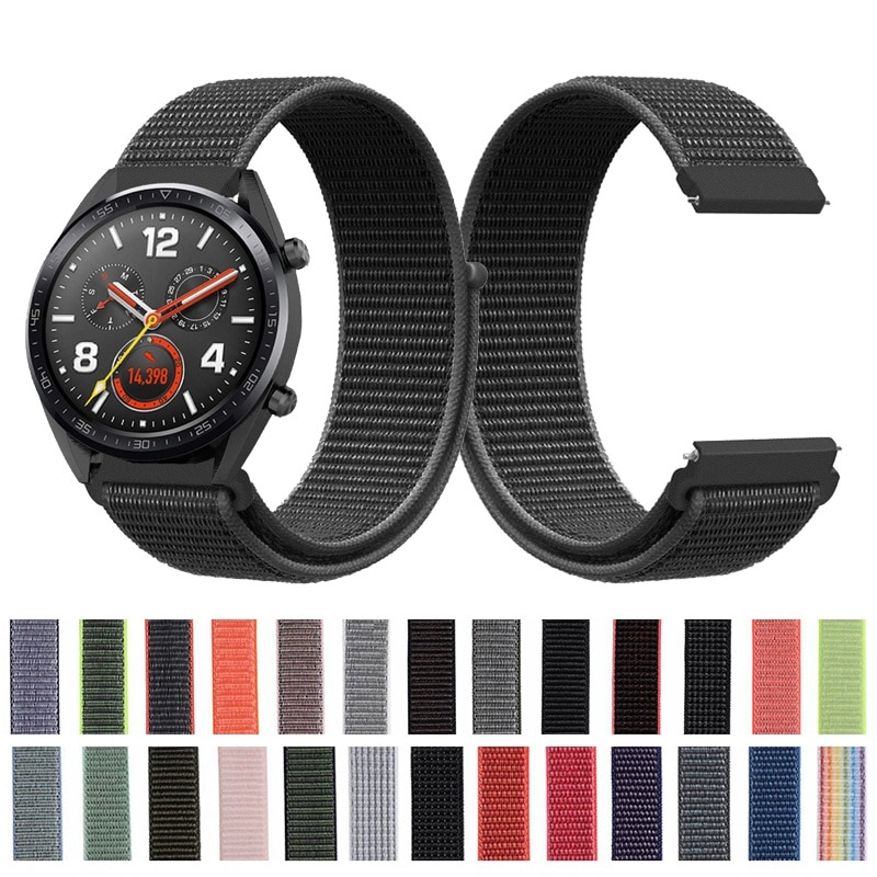 Correa de muñeca de nailon para Huawei Watch GT para huawei watch 2 bandas de reloj clásicas 22 mm para huawei Honor Watch Magic Dream pulsera de repuesto Correa reloj inteligente Accesorios