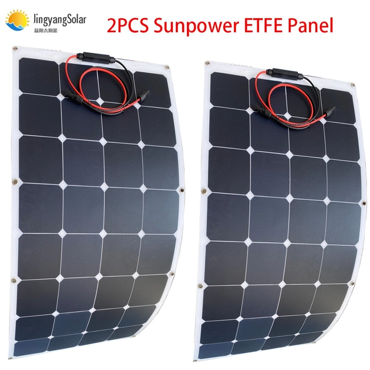 China Best quality ETFE Sunpower solar panel with sunpower solar cell for 12V/24V solar battery charger high power and durable