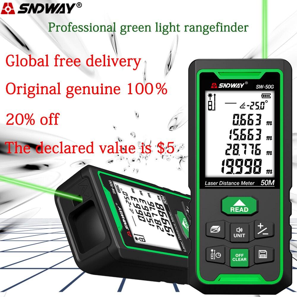 SNDWAY-telémetro láser de línea verde medidor de distancia, telémetro Digital, cinta láser,...