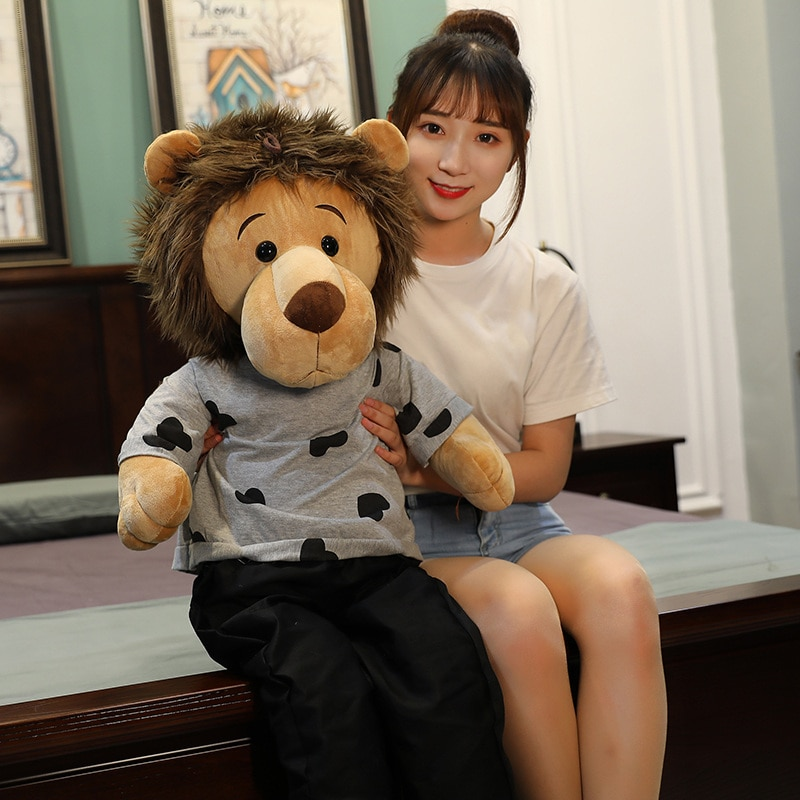 Colgante de León Minomi, muñeco de peluche, Animal León, juguete de Corea, bolso colgante, el rey Lee MinHo, León, regalo de cumpleaños para niños