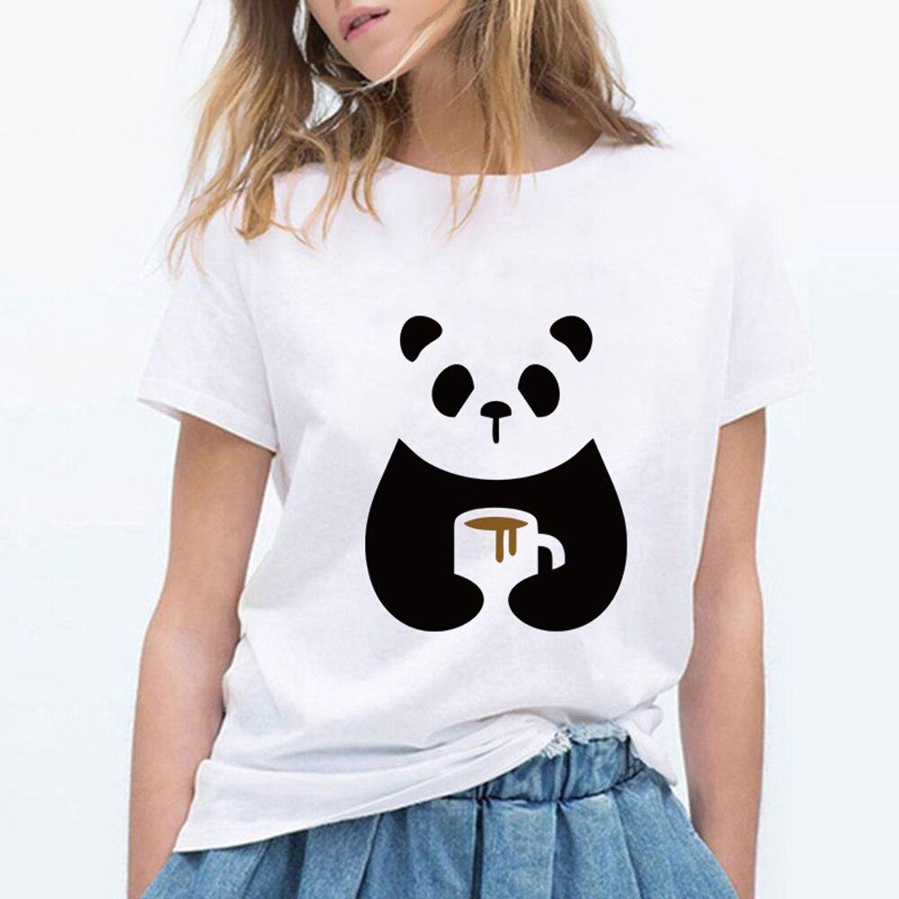 Punk Pop Vintage cuello redondo Hipster Hip Hop camiseta gimnasio Panda camiseta barata Vogue Primavera Verano Divertido Streetwear Linda camiseta