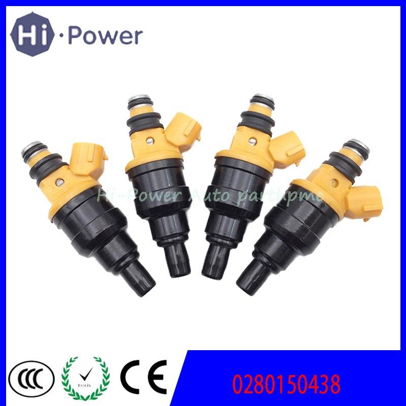 4x inyector de combustible de 23250-02020, 23209-02020 a 0280150438 para TOYOTA Carina 1.6L 4AFE 1994 ~ 1997 Avensis 1.6L 4AFE 1997 ~ 2000, 2325002020