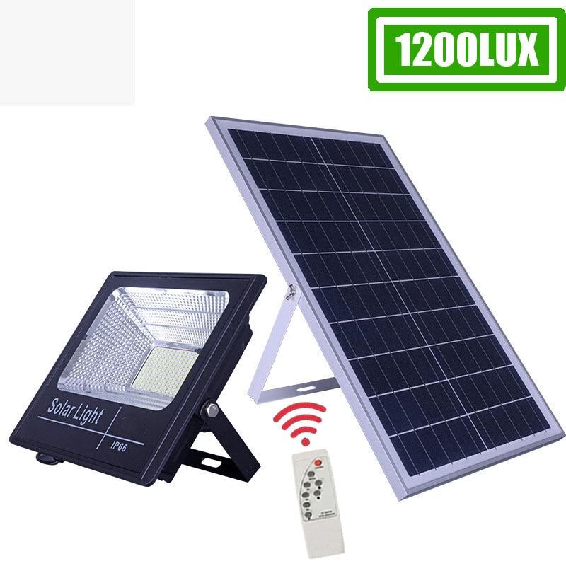 Solar Led Light Panel Lamp Farm Remote Control Solar Garden Outdoor Light Waterproof Solar Led Lamp Outdside  Cable enlarge
