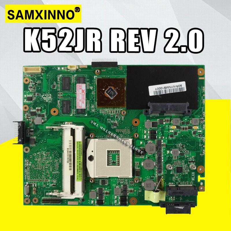 K52JR REV2.0 Laptop Motherboard Para ASUS A52J X52J K52J K52JR K52JE K52JC K52JU K52JB Mainboard 512M teste 100% OK