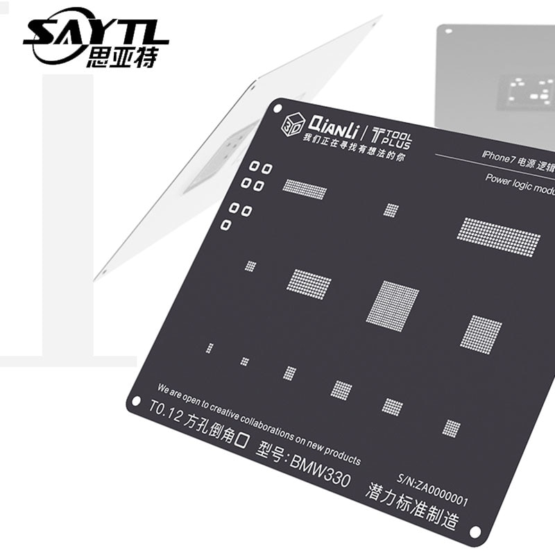 Kit de plantilla de Reballing de BGA QianLi 3D para iPhone 8 P/8/7/7 P/6 S/6/5S