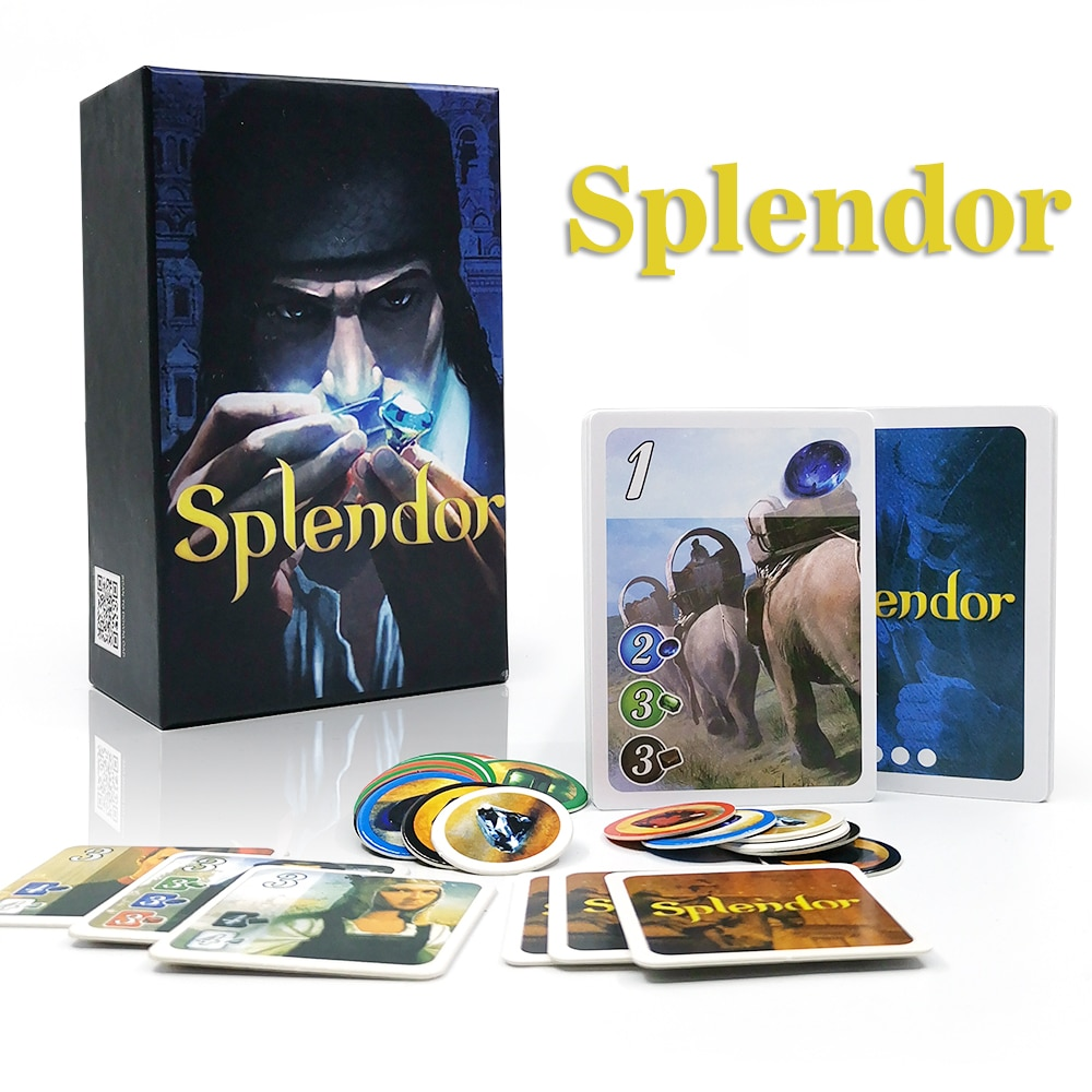 Фото - Splendor Board Game full English carton box for Investment & Financing Family party fun cards game geistesing board game 2 8 players family party best gift for children english instructions cards game reaction blitz game