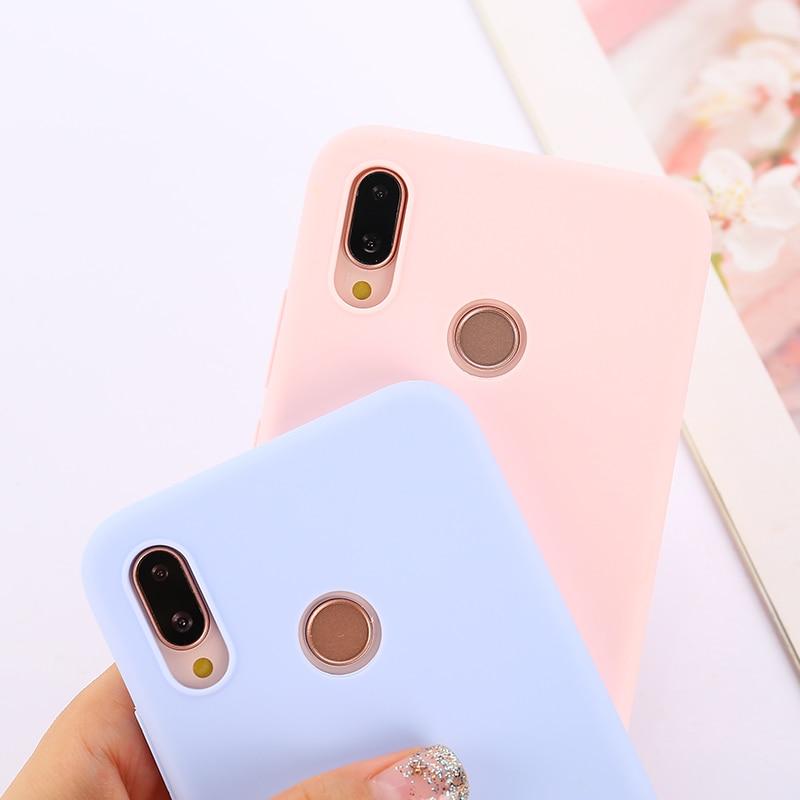 Candy Color Soft Case Cover for Xiaomi Mi 5X 6X 8 9 SE A1 A2 A3 Lite 9T CC9e CC9 Pro Mix 2s Max 2 3 F1 Play Note 10 Coque Funda