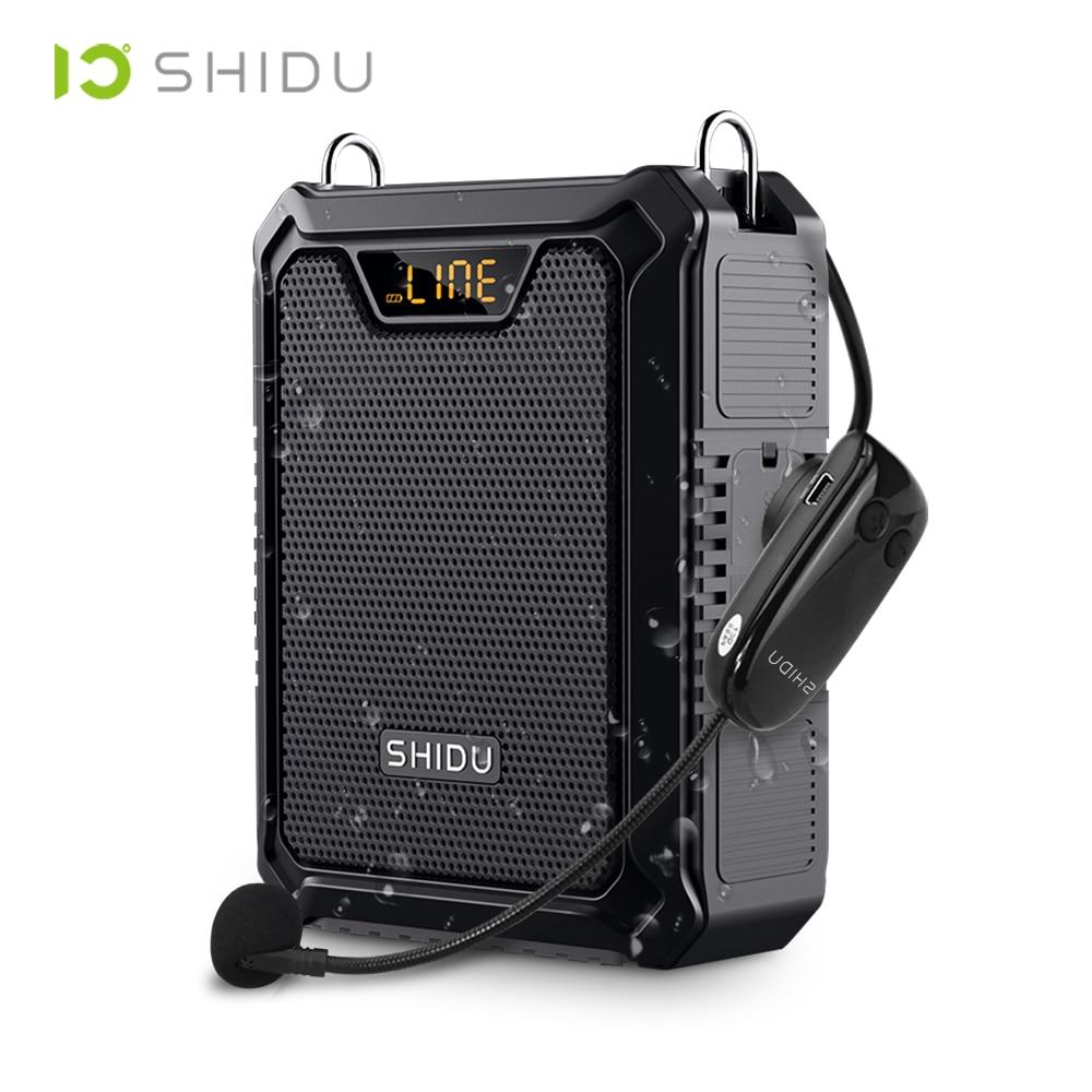 شيدو 30 واط محمول مضخم صوت IPX6 مقاوم للماء سمّاعات بلوتوث قوة البنك ميكروفون لاسلكي مكبر الصوت لتعليم الكلام M1000