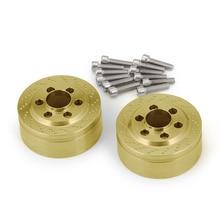 AXSPEED 1/2pair Brass Widen Wheel Weights For 1.9inch/2.2inch Beadlock Rims SCX10 Wraith D90 1/10 RC Car