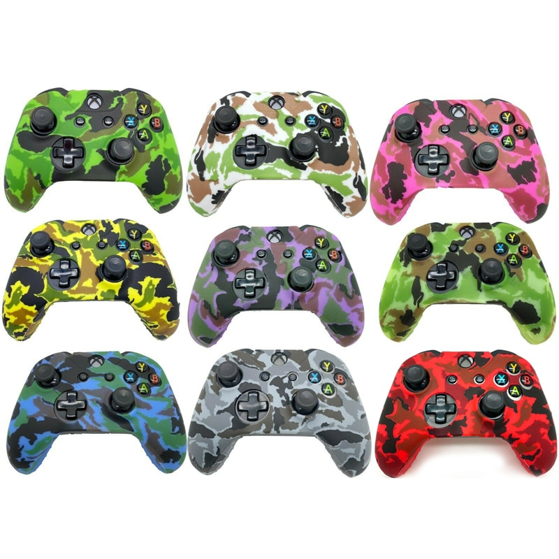 Camo Silicone Case for XBox One X S Controller Shell Waterproof and Stain Resistant Handle Renovation Protective Skin Cover