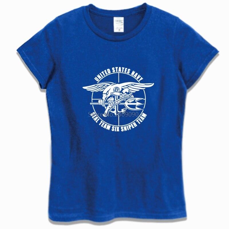 Camisa de algodão de manga curta t camisa equipe vi sniper equipe selo da marinha camiseta menina casual hip hop t topos harajuku streetwear