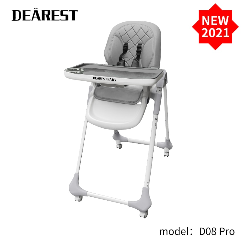 DEAREST D08 pro Kids Chair Baby Chair Travel Foldable Washable Infant Dining High Dinning Cover Seat Safety Belt Feeding