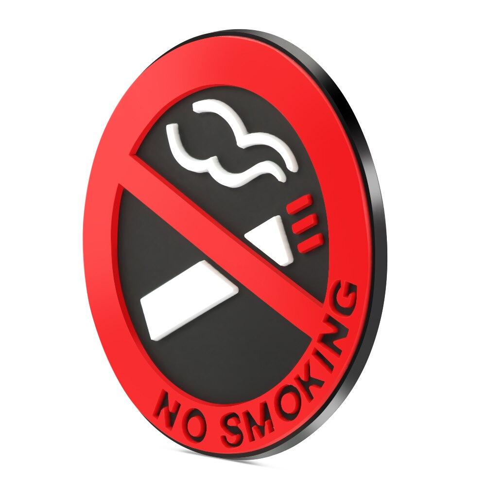 Não fumar aviso logotipo adesivos de carro para toyota chr corolla camry prius venza prado rav4 auris yaris aygo