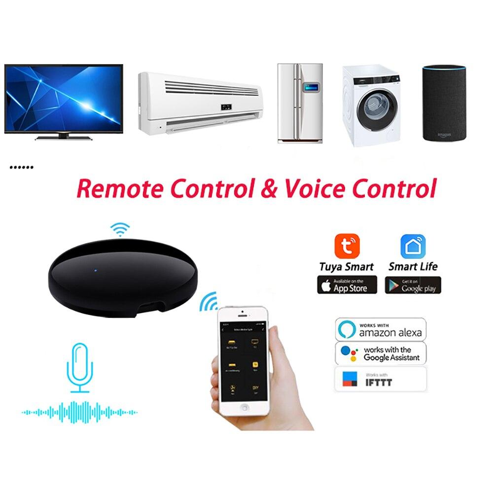 Smart Life – télécommande universelle WiFi IR, pour climatisation, boîtier TV, compatible avec lapplication Tuya, Google Assistant, Alexa Sr