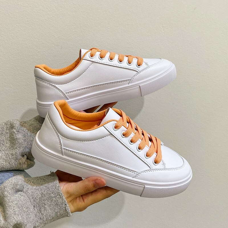 Woman White Casual Women's Vulcanize Sport Shoes 2021 Fashion designer Leather Sneakers Tenis Femini