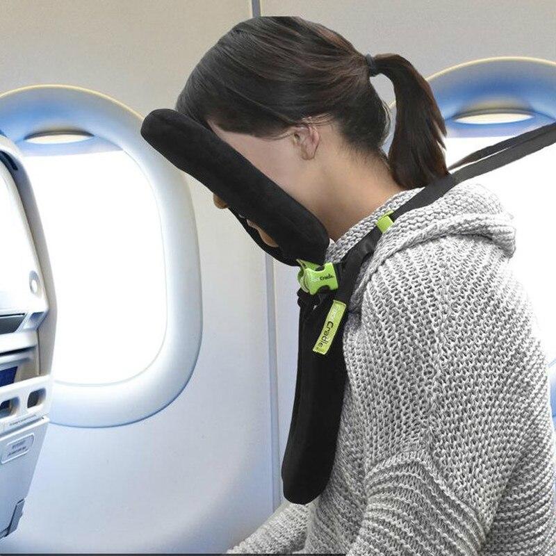 Novo 5 modos de viagem travesseiro melhor opção no curso pescoço apoio travesseiro engraçado multifuncional portátil 3d dobrável para o corpo dormir