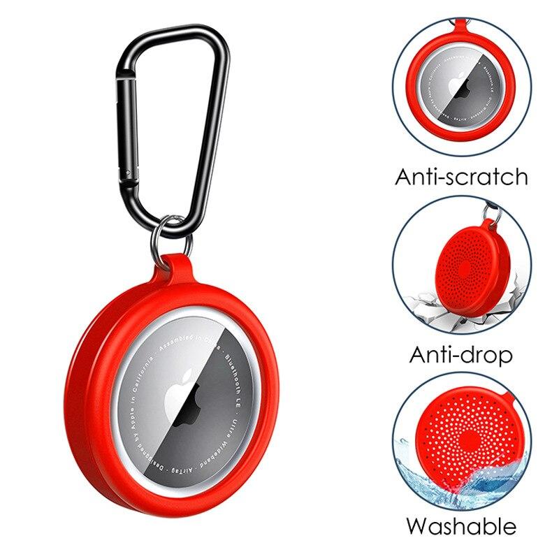 Защитный чехол для AirTag, силиконовый защитный чехол-бампер, чехол, совместимый с Apple AirTag, защитный чехол с трекером чехол