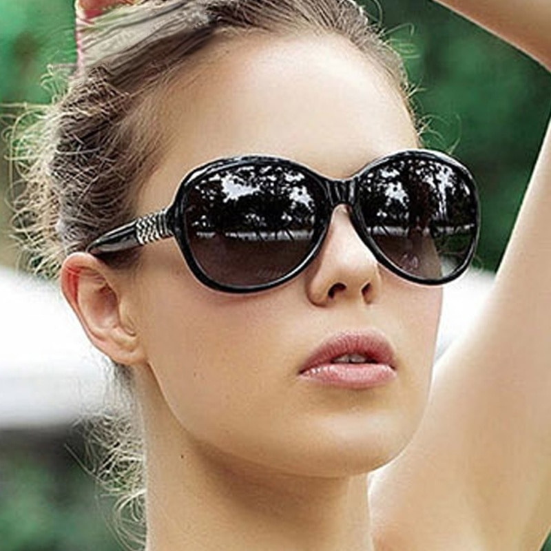 Круглые Солнцезащитные очки для женщин 2021 черные большие солнцезащитные очки Ретро Винтажные большие солнцезащитные очки с оттенками для ...