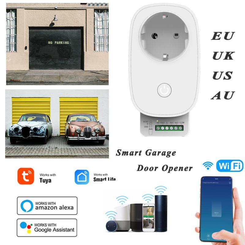 tuya inteligente wifi app controlador de porta garagem voz controle remoto automatico
