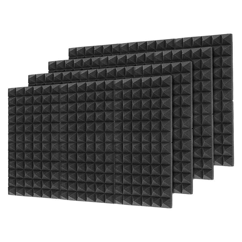 24 قطعة 30X30X5CM عزل الصوت القطن عزل الصوت رغوة رغوة عزل الصوت