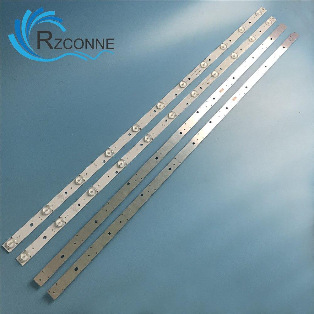 """808mm de tira de LED para iluminación trasera 11 lámpara para 40 """"TV LCD 40CE5100 40CE1130 HK40D11-ZC14A-01 671-400E1-21401 3BL-T8104102-003B V400HJ6-PE1"""