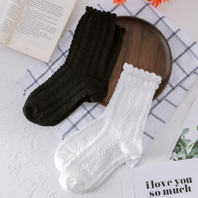 AliExpress - White Socks Women Lace Summer Thin Crew Socks Cotton Cute Japanese Jacquard College High Quality Women Fashion kawaii Sweet Hot