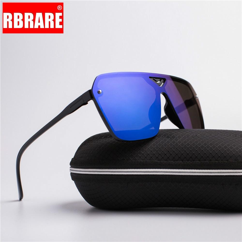 RBRARE New Reflective Mirror Sunglasses Men Driving Sports Men Dazzling Brand Designer Trendy Retro