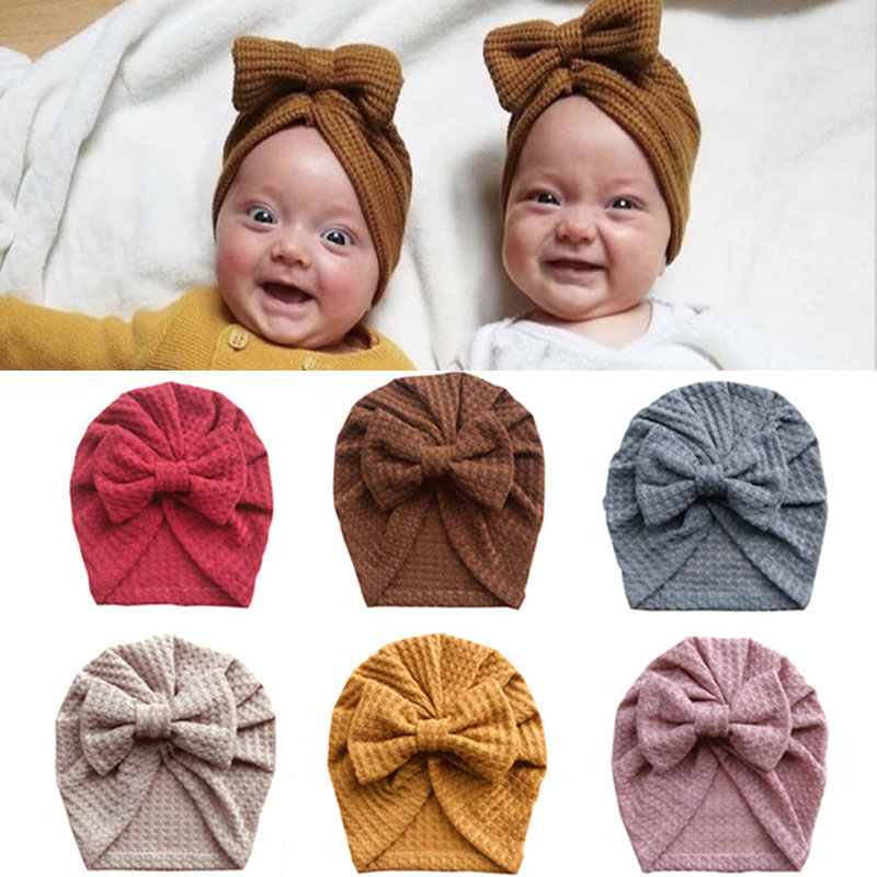 Цветные вафельные вязаные детские стандартные вязаные шапки детские шапки Высококачественные мягкие и удобные детские шапки