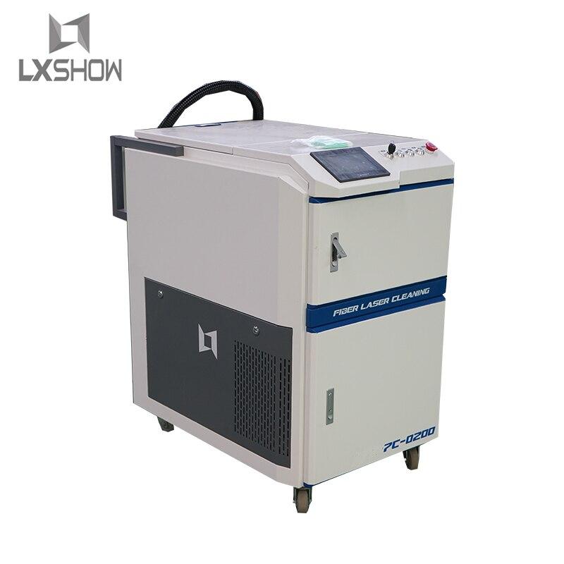 Máquina de limpieza láser de fibra de eliminación de pintura de óxido de eliminación de óxido de Metal 50w 100w 200w