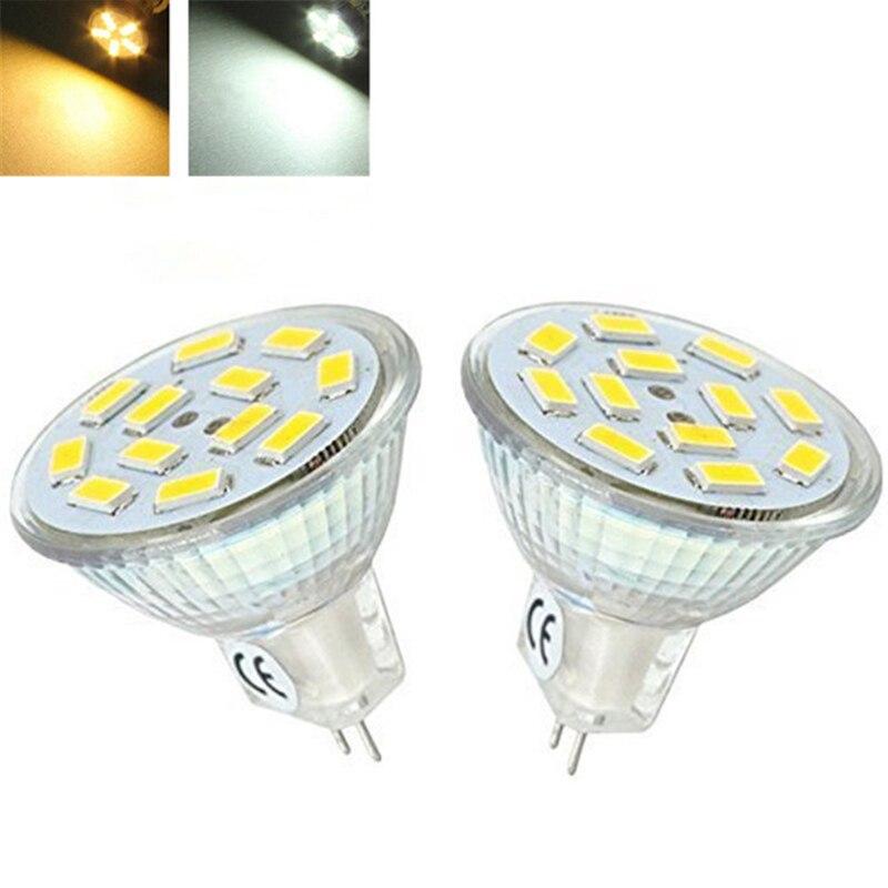 Bombilla LED MR11 GU4 lámpara LED 12V SMD 5730 foco LED 9 12 15LEDs 6W 9W 12W luces blancas cálidas/frías para la decoración del hogar ampolla