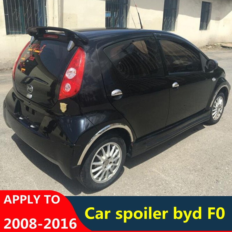 For Geely Byd F0 Spoiler Accessories 2008-2016 ABS Material Car Tail Fin High Quality Trunk Spoiler