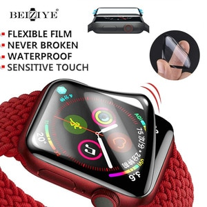 Full Screen Coverage Soft Film Cover Edge Flexible Film for Apple watch 44/40mm 42/38mm Protector For iwatch series 6 SE 5 4 2 1
