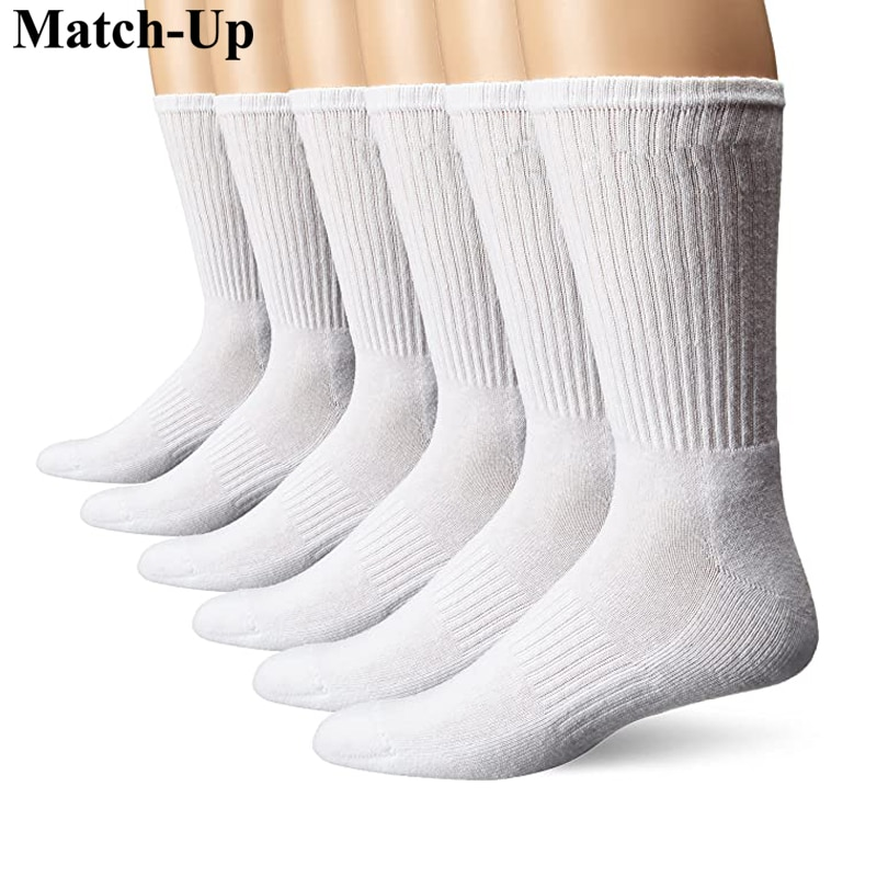 Match-Up Men's sport crew terry socks athletic socks (6 PAIRS) сабвуфер match mercedes up w8mb s4