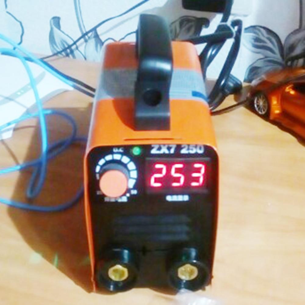Máquina de solda elétrica portátil do soldador 250a power mma igbt inversor soldador display lcd 110 v/220 v ferramenta de solda economia energia