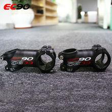 31.8mm 6/17 degrés barre de vélo de route tige vtt aluminium + Fiber de carbone Stem60/70/80/90/100/110/120mm tige de vélo Ultra-léger
