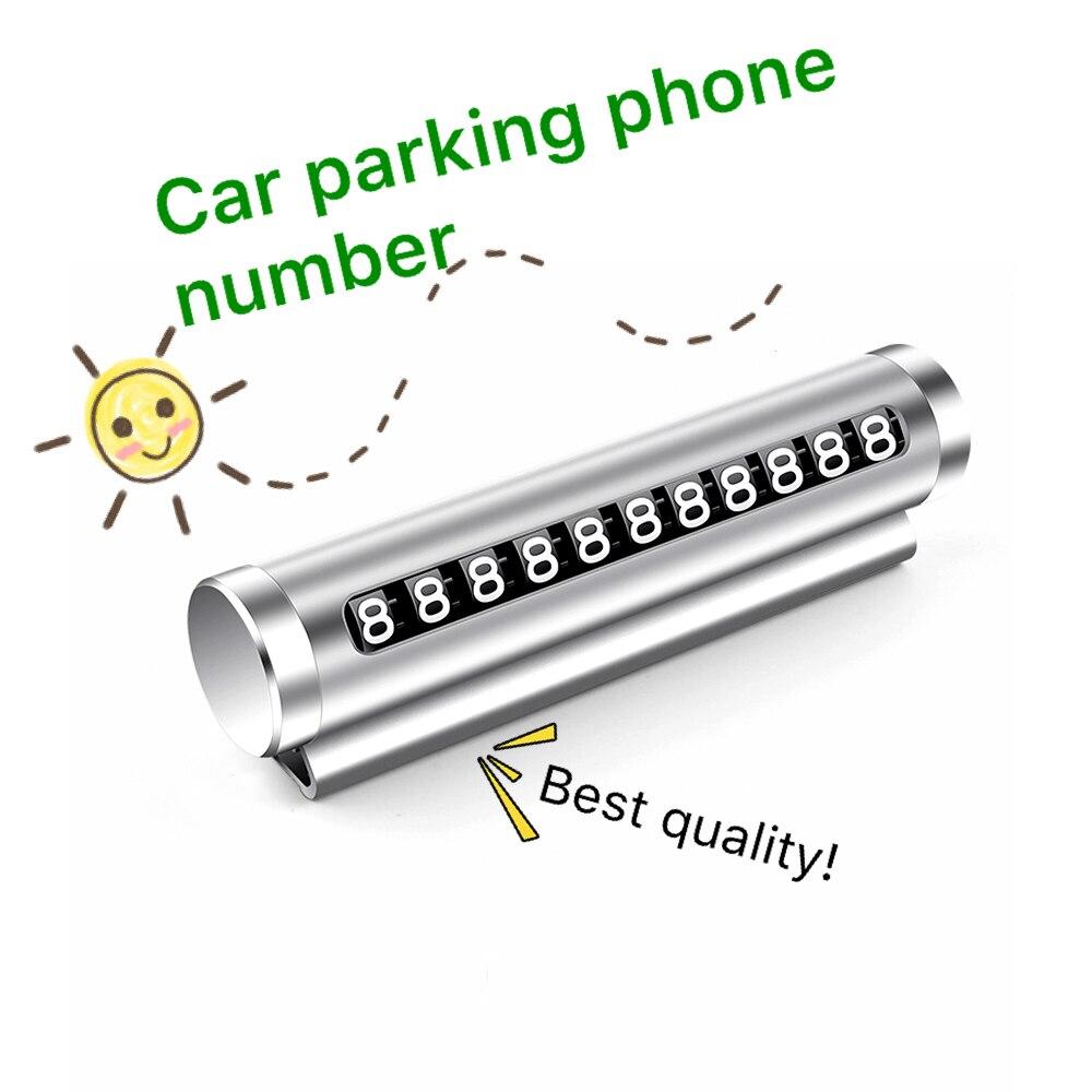 Автомобильные аксессуары номер телефона в автомобиле T02 карточка для временной парковки Номера откидной карты автомобильные аксессуары па...