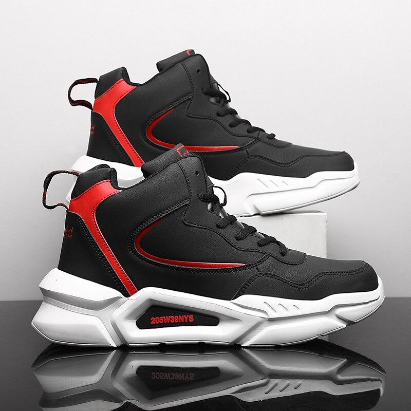 Zapatos deportivos de PU para Hombre, zapatillas gruesas con plataforma de goma,...