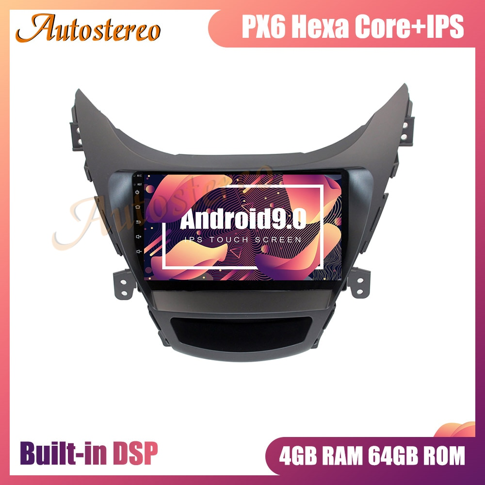 Navegación gps para coche Android 9 4GB para Hyundai Elantra (MD) 2011-2013 Auto Radio reproductor Multimedia unidad principal de coche grabadora de cinta DSP