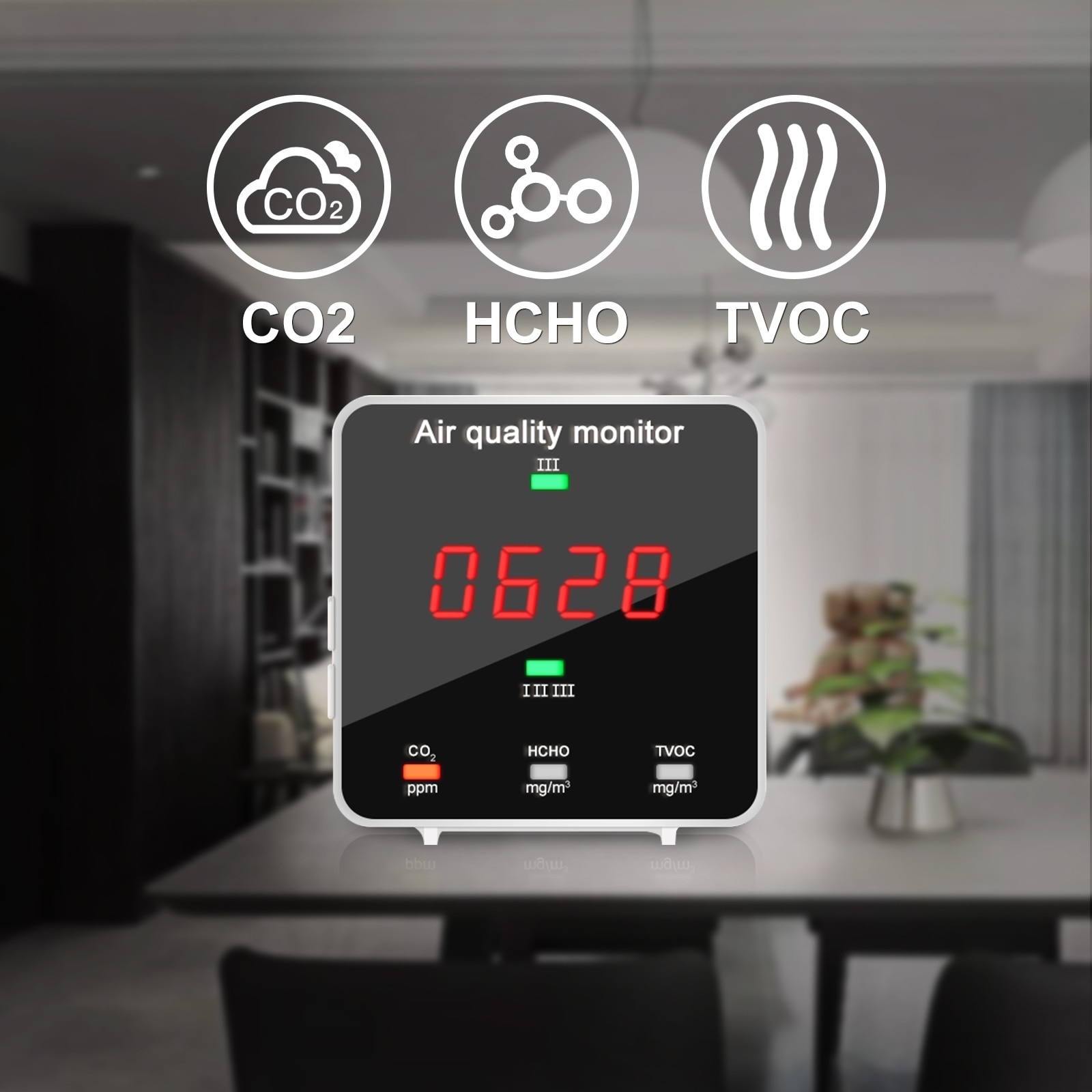 co2 meter digital temperature humidity sensor tester air quality monitor carbon dioxide tvoc formaldehyde hcho gas detector CO2 Meter Digital Temperature Humidity Sensor Tester Air Quality Monitor Carbon Dioxide TVOC Formaldehyde HCHO Detector