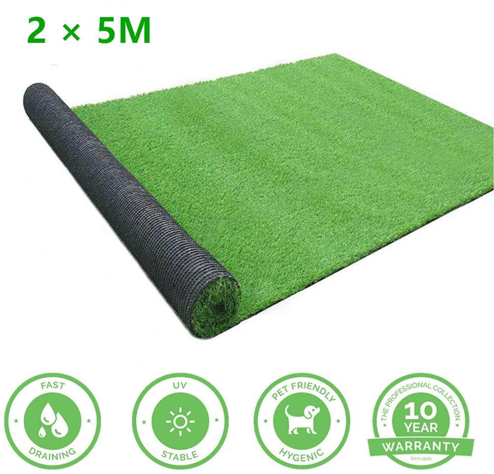 2 × 5 م حشيش صناعي للمناطق المفتوحة حصيرة ، داخلي في الهواء الطلق المناظر الطبيعية الديكور ، العشب العشب الاصطناعية السجاد حصيرة
