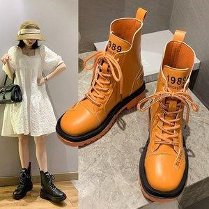 Candy colors Woman Boots Platform Martins Shoes Woman Leather Winter Warm Boots Women Plus Size Women Shoes 2020 Designers hot