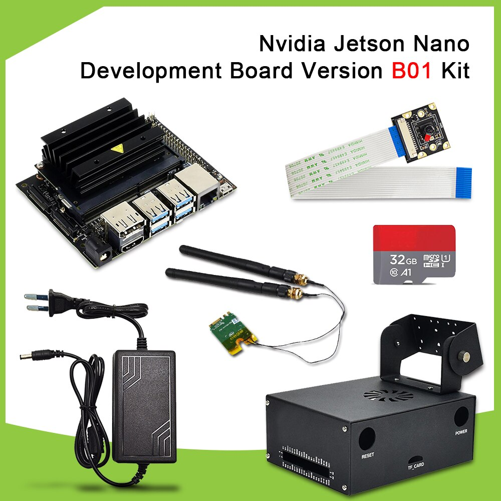 New version Nvidia Jetson Nano Developer Kit B01 version AI Development Board +AI camera+EU DC power supply+TF card+case