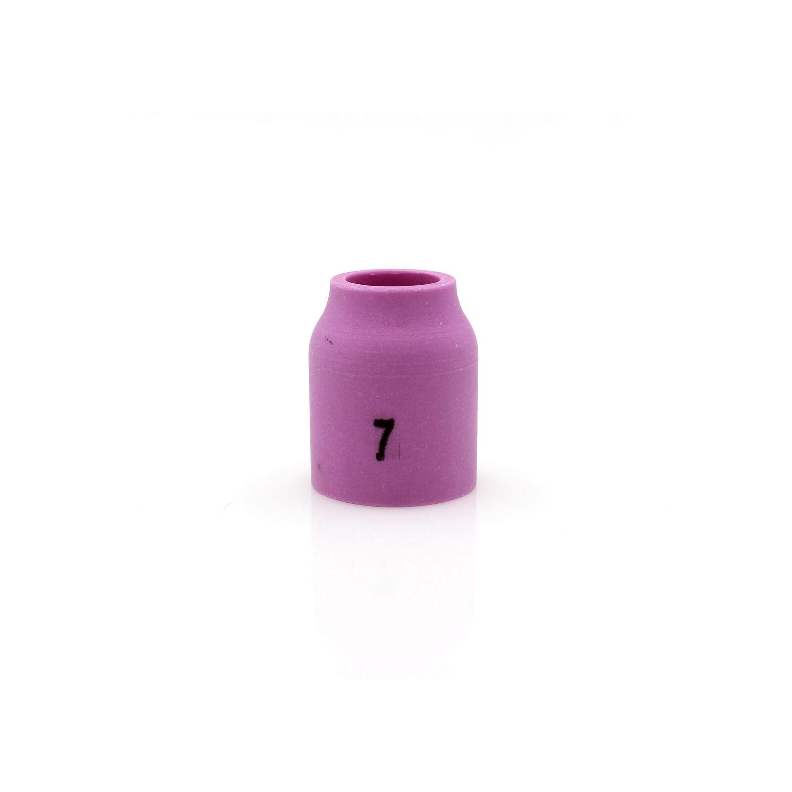 """10pk taza de lente de Gas de cerámica 53N61 #7 7/16 """"soplete de soldadura TIG WP 9/20"""