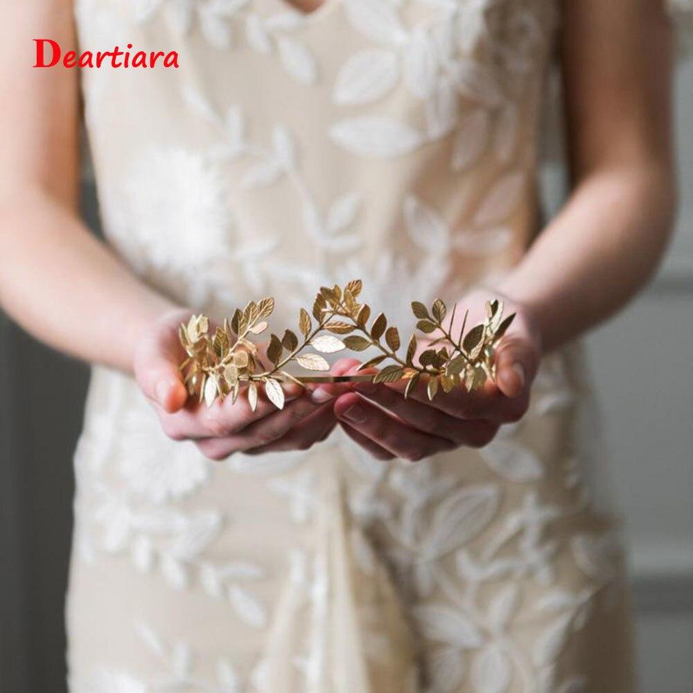 11 Styles Women Fashion Leaf Style Wedding Party Crown Bridal Tiara Vintage Bride Hair Hoop Golden/Sliver Hair Accessories