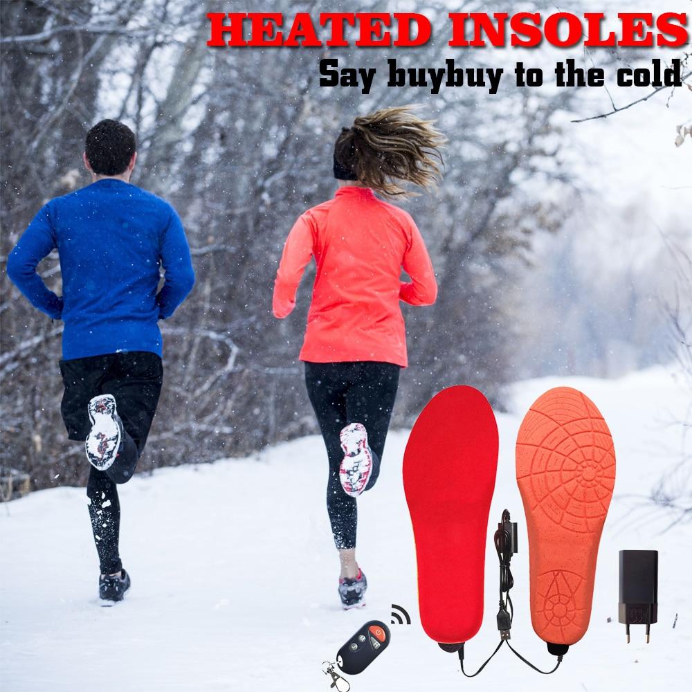 Стельки с перезаряжаемым подогревом с 1800mAh Li-battery нагревательные стельки для кроссовок зимний подогреватель для ног теплый подогреватель д...
