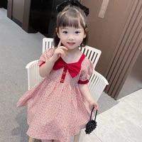 baby girl dress 2021 summer kids clothes korean fashion toddler girls short sleeve princess dress party baby children costume