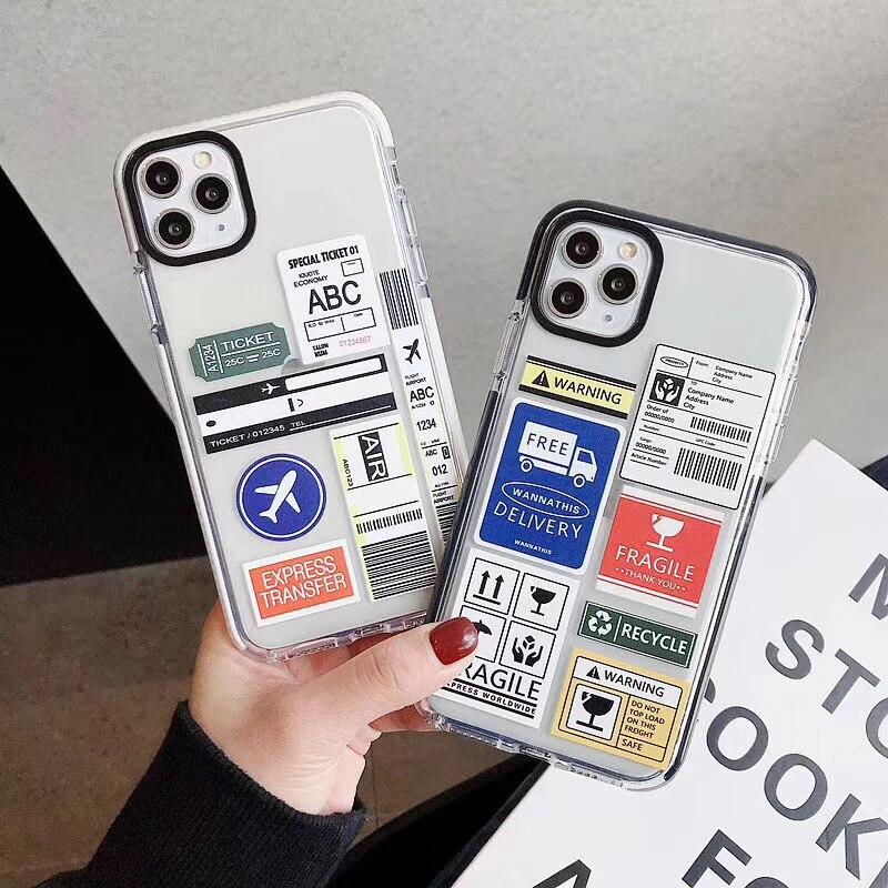 Funda de teléfono de silicona suave con código QR para iphone 7, 8 Plus, X, XS, XR MAX y 11 Pro, envío exprés