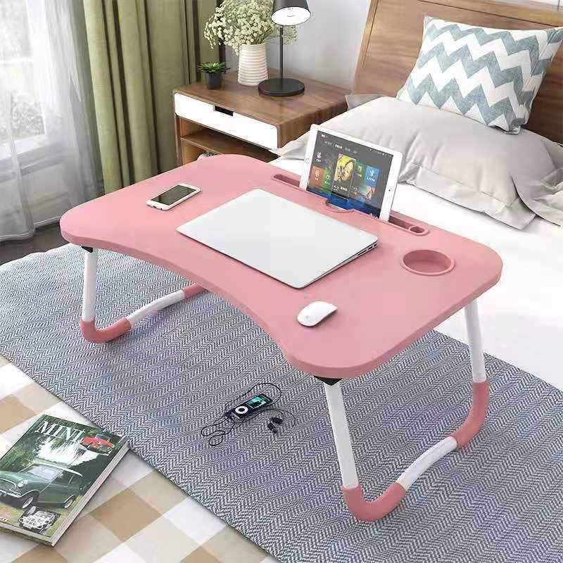 محمول قابلة للطي حامل كمبيوتر محمول حامل طاولة للدراسة مكتب خشبي طوي مكتب الكمبيوتر ل أريكة تتحول لسرير الشاي تخدم الجدول