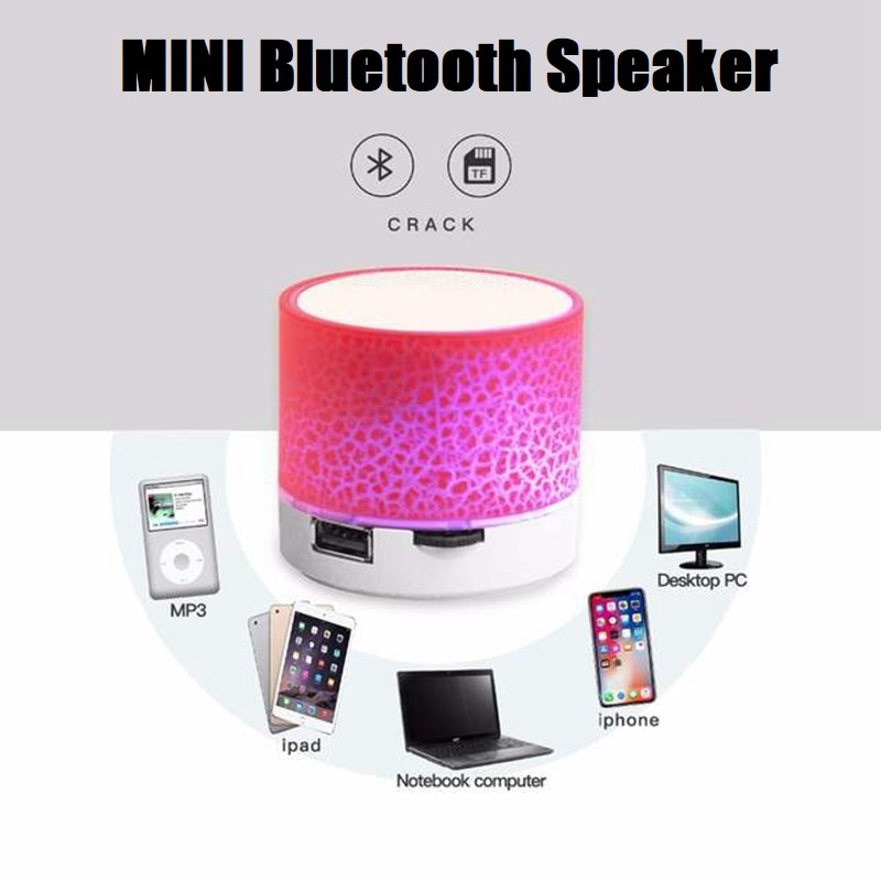 Mini Wireless Bluetooth Speaker Colorful LED Light Portable Subwoofer MP3 Audio Stereo Music Player Support TF Card enlarge