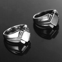 Hommes bague acier inoxydable bague nordique Vintage Antique noir scandinave anneau acier nordique fête bijoux 2020